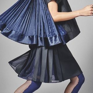 [Nike Lab x Sacai] Navy Drawstring Pleated Skirt
